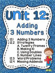 miss giraffe u0027s class adding 3 numbers