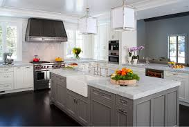 kitchen cabinets custom dusty grey custom kitchen cabinet with white marble countertop and
