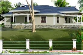 kerala style single story bed room villa nadumuttam house plans