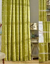 Curtains With Green Pattern Cotton Country Green Window Curtains