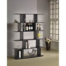 Bookcase Room Dividers by Furniture Of America Lian Cinnamon Black Bookcase Room Divider