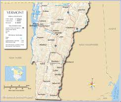 Physical Map Of The United States by Reference Map Of Vermont Usa Nations Online Project