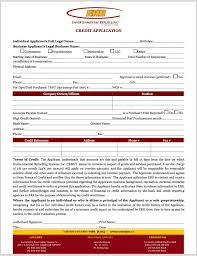 generic credit application template credit application