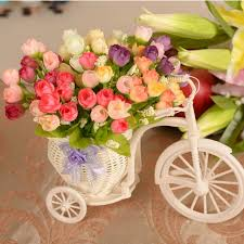 flowers free shipping 15 flower heads artificial flowers silk roses decorated