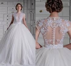 Wedding Dress Lace Sleeves Lace Ball Gown Wedding Dresses With Sleeves Naf Dresses