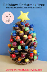 Funny Decorations For Christmas Tree by Try This Easy Christmas Craft For Kids To Make A Rainbow Beeswax