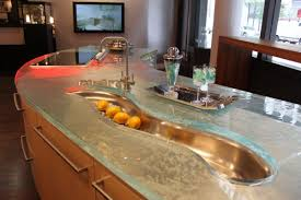 tempered glass countertop minimalist kitchen with tempered glass
