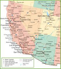 Interstate Map Of The United States by Map Of Arizona California Nevada And Utah