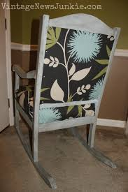 Rocking Chair Used The Rescued Rocking Chair How To Reupholster A Chair Tutorial