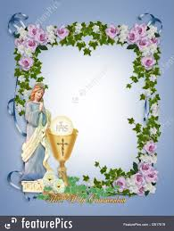 holy communion invitations templates holy communion invitation stock illustration