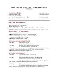 college resume format exles resumew to format college template student application how a