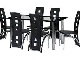 Cream Leather Dining Room Chairs Dining Room 5 Modern Dining Sets Black And White Design