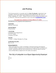 sample cover letter for job posting sample cover letter for job