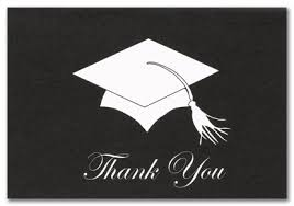 thank you graduation cards graduation hat stationery thank you cards 16439