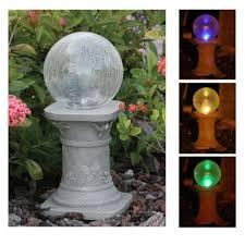 Garden Gazing Globes Solar Gazing Globe Balls Lighted Outdoor Color Changing