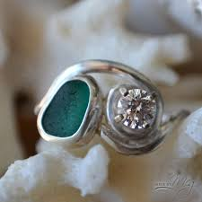 sea glass engagement rings the adriatic 2 sea glass engagement ring gems and jewels