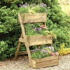 garden boxes ideas planters building planter boxes tiered wooden 3 tier box plans