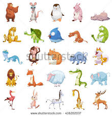 25 animals set assets stock illustration 416202037