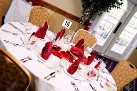 wedding reception formal table setup stock photo picture and