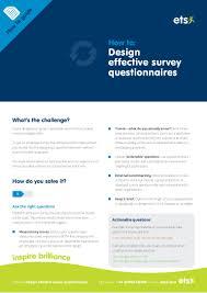 how to design effective survey questionnaires