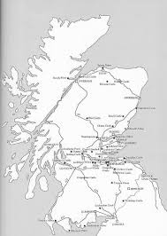 Map Of Scotland And England by Map Of Scotland U0026 Mary Queen Of Scots