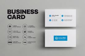 simple clean business card business card templates creative market