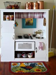 Pretend Kitchen Furniture How To Turn An Entertainment Center Into A Play Kitchen
