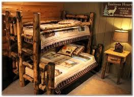 Cabin Bunk Beds Log Cabin Bunk Beds Rustics Log Furniture