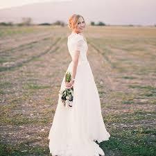 wedding dress garden party aliexpress buy modest wedding dresses 2016 a line chiffon