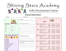 weekly report templates preschool printable weekly progress reports john blog classroom preschool printable weekly progress reports john blog
