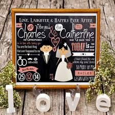 Personalized Wedding Photo Frame Qoo10 Personalized Chalkboard Layout Printed Digital
