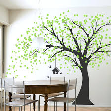White Tree Wall Decal For Nursery Wall Decals For Nursery Tree White Tree With Large Branches Leaves