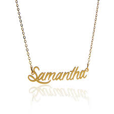 gold script name necklace script name necklace women necklace gold color