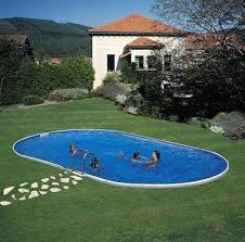 petite piscine enterree piscine enterrée ovale en kit 7 00m x 3 50 x 1 50 piscine en ligne