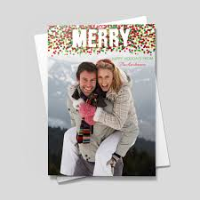 merry christmas confetti photo greeting cards from cardsdirect