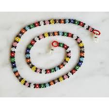 bead flower bracelet images Eyeglass cord bead daisy chain multicolor guatemala wholesale jpg
