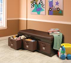 Build Storage Ottoman by Amazon Com Badger Basket Kid U0027s Storage Bench With Cushion And 3
