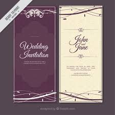 wedding invitations freepik purple vintage wedding invitation with branches vector