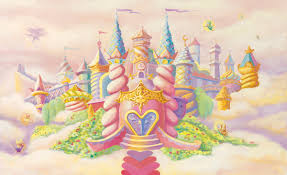 princess castle wall mural c836