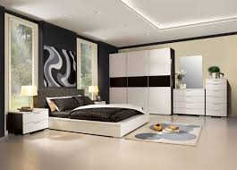 bedroom bedroom with beige domination and high head board with