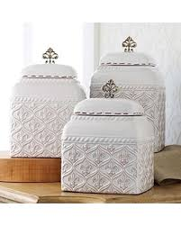kitchen canister savings on mud pie 150093 kitchen canister set of 3 fleur de