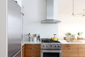 hexagon tile kitchen backsplash prewar apartment transitional kitchen new york by