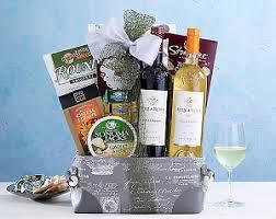 italian gift baskets deluxe italian semi sweet wine duet gift basket at gift baskets etc