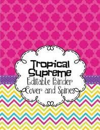 pink and aqua editable binder cover pinterest binder