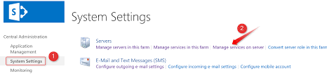 sharepoint 2016 managing central administration web application