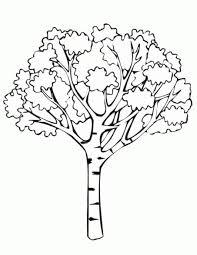 Coloriage arbre a imprimer