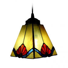 Stained Glass Pendant Light Stained Glass Style Mini Pendant Light In Square