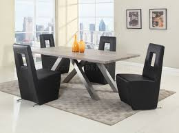 cindy crawford dining room sets chasity 5pc dining set in dark oak by chintaly w options