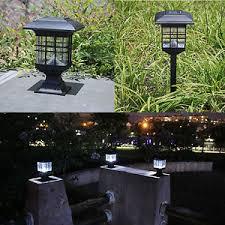 solar powered pillar lights outdoor solar powered led garden yard bollard pillar light post