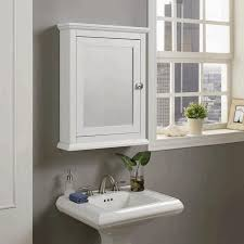 Mirror Wall Cabinet Tall Bathroom Cabinets Wall Mounted Handle Aluminium Frame Fabric